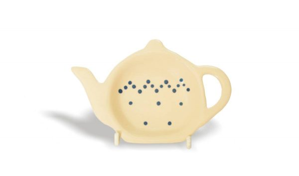 Cooksmart AC1336 Teebeutelablage aus Keramik gepunktet
